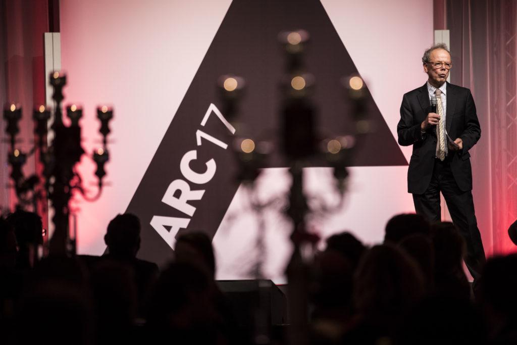 Kees Christiaanse is onderscheiden met de ARC17 Oeuvre Award. Foto: Elvins Fotografie