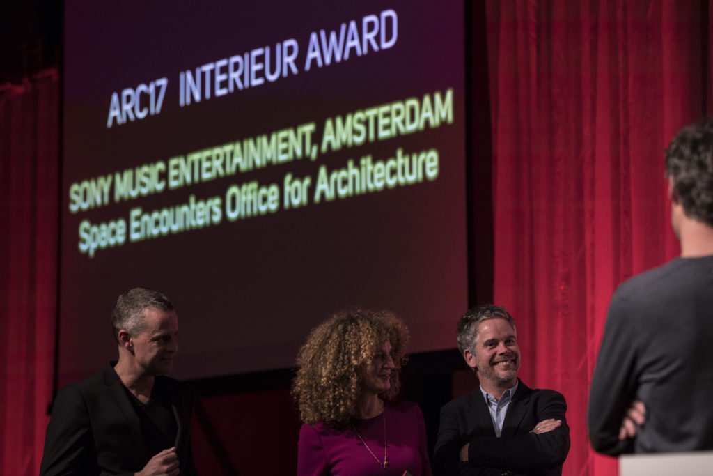 De winnaars van de ARC17 Interieur Award: Space Encounters. Foto: Elvins Fotografie