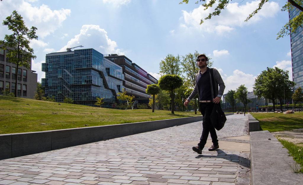TU_Posas maakt gebiedsvisie hart TUDelft. Campus. Foto J. van Dijk