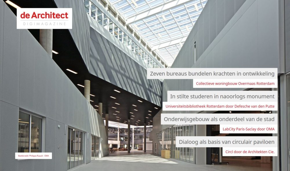 de Architect Digimagazine december 2017 is uit!