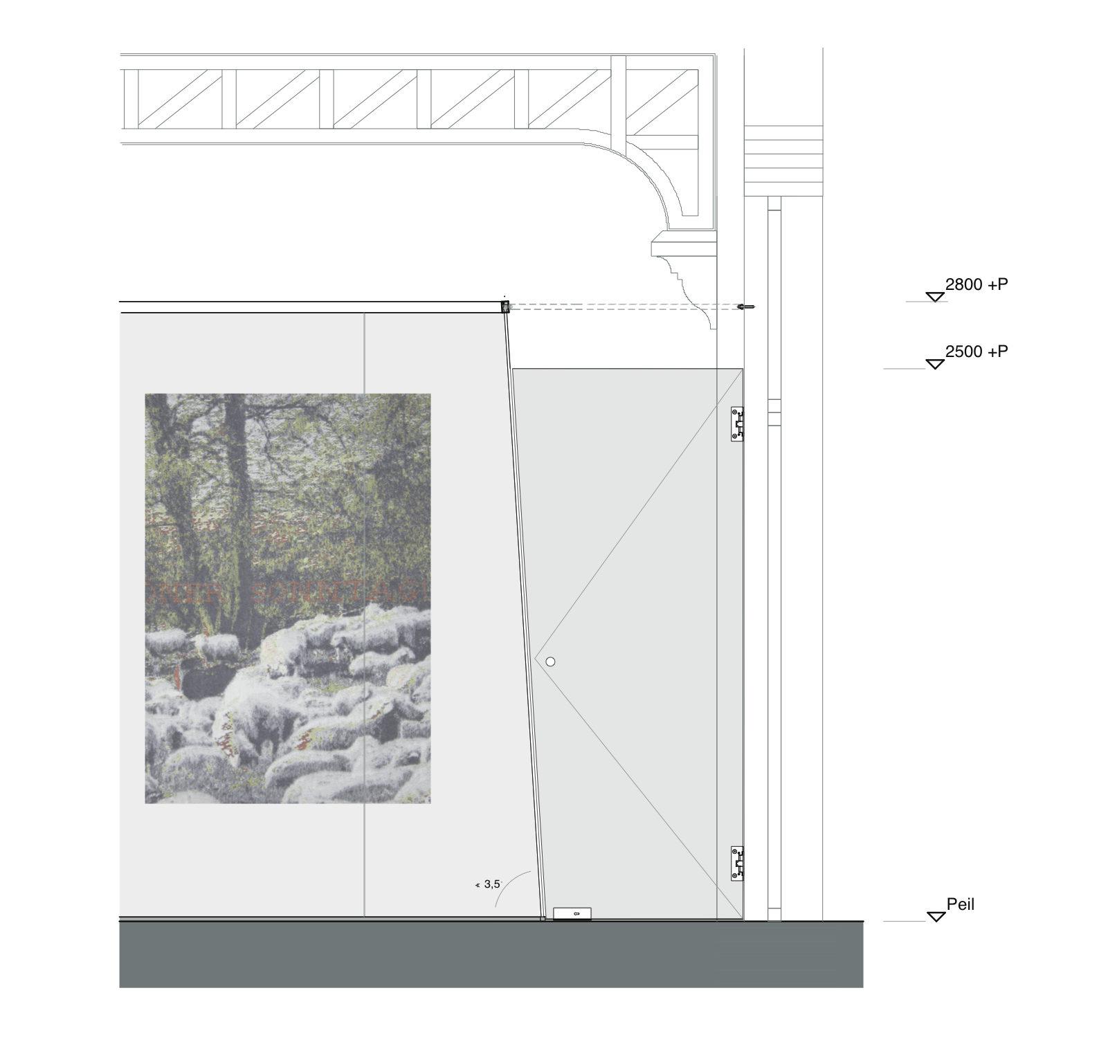 <p>detail Spiegelzaal, beeld RESET Architecture</p>