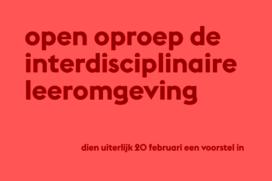 Open Oproep 'De interdisciplinaire leeromgeving'