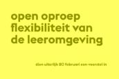 Open Oproep Flexibiliteit van de leeromgeving
