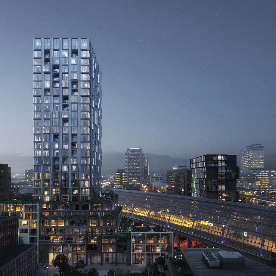 Team Crossroads ontwikkelt twee woontorens in Amsterdam Sloterdijk