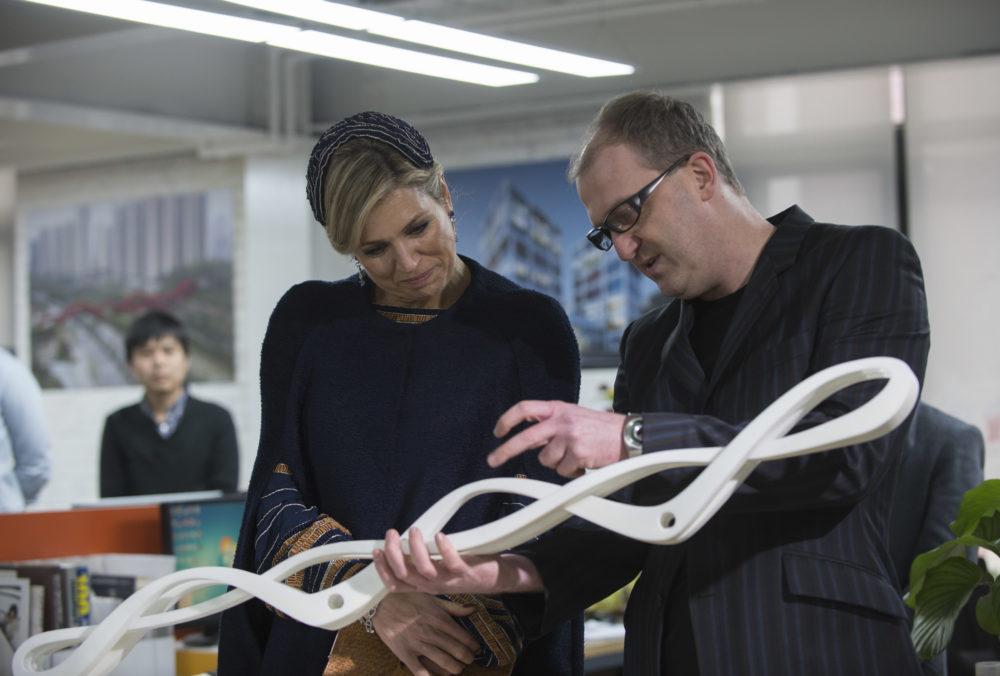 Fotoalbum bezoek Koningin Maxima aan NEXT Architects China