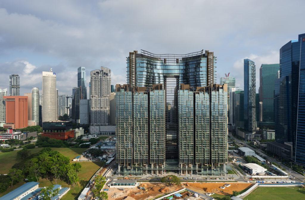 Marine One in Singapore door Ingenhoven Architects. Foto HG Esch