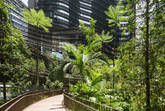 Marina One Singapore door Ingenhoven Architects. Fotografie HG Esch