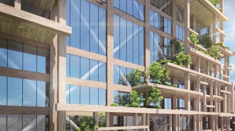 Tokio Houten Wolkenkrabber Sumitomo Forestry Co. Nikken Sekei