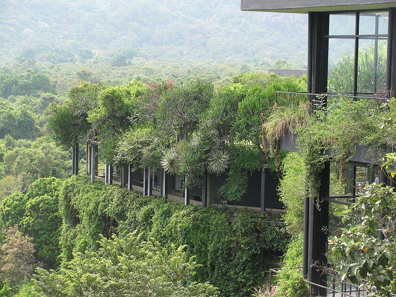 Kandalama Hotel in Sri Lanka door Geoffrey Bawa