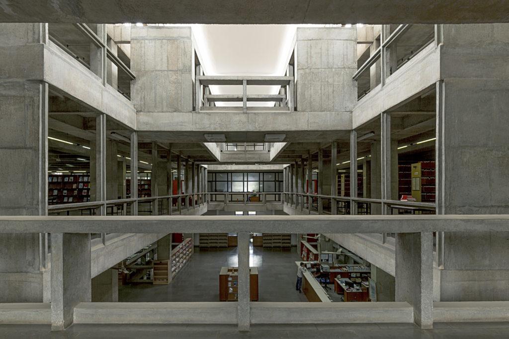 Indian Institute of Management in Bangalore door Balkrishna Doshi, beeld VSF