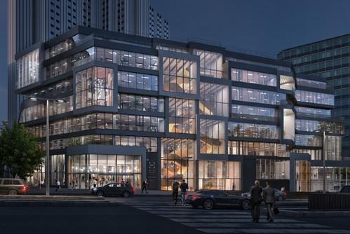 Het ontwerp in Gaite Montparnasse Parijs breekt het solide, horizontale deel door om het inwendige multifunctionele programma meer extravert te maken. Beeld MVRDV