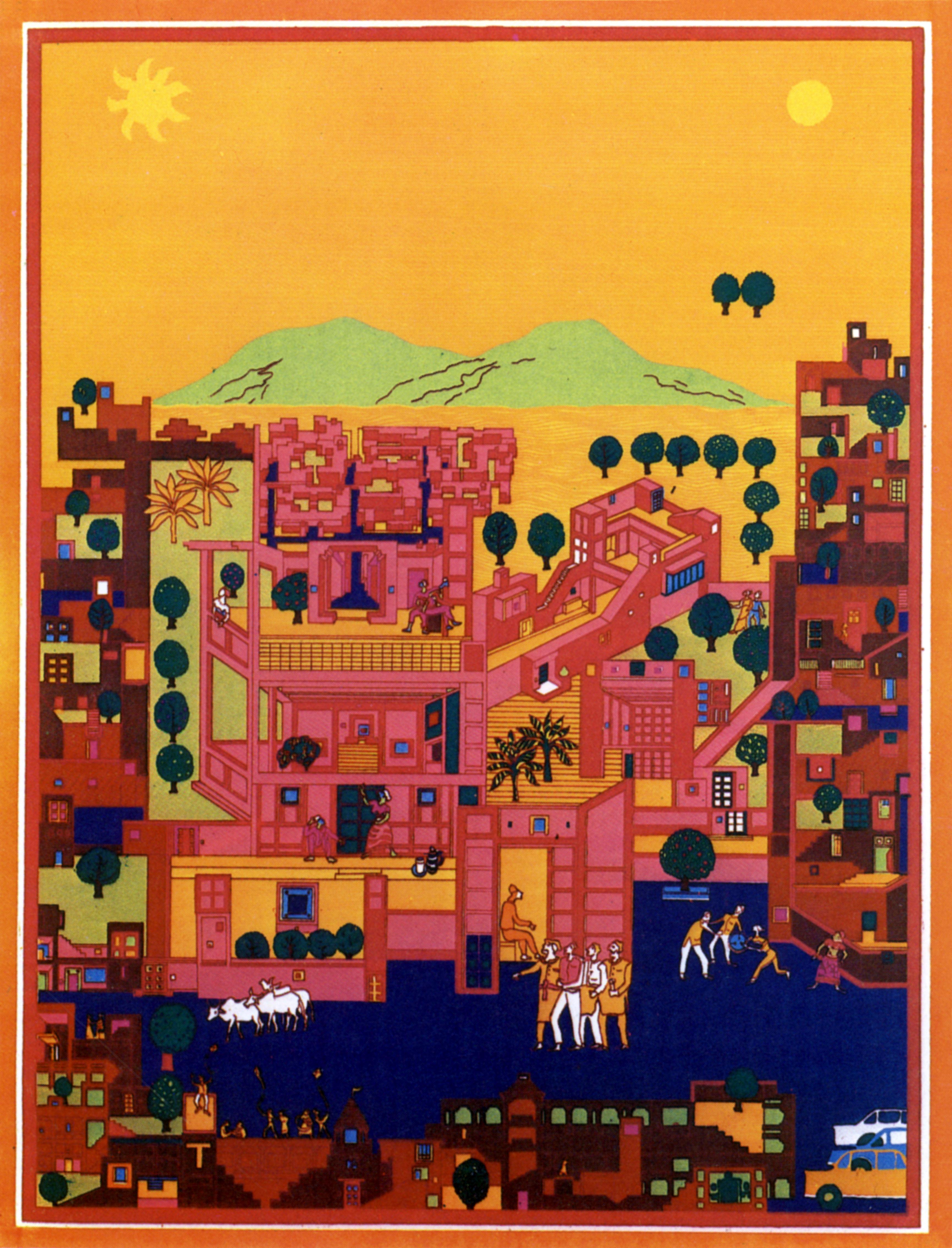 <p>Vidhyadhar Nagar Masterplan en Stedebouwkundig ontwerp (1984) in Jaipur door Balkrishna Doshi, winnaar Pritzker Prize 2018, beeld VSF</p>