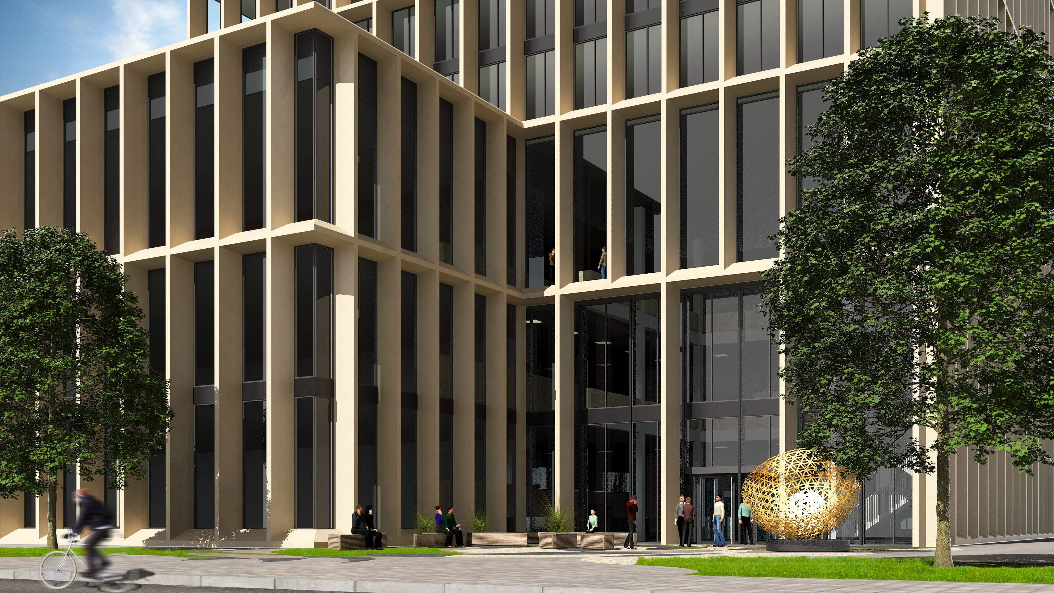 <p>Europees Medicijn Agentschap (EMA) op de Zuidas in Amsterdam, beeld Rijksvastgoedbedrijf</p>