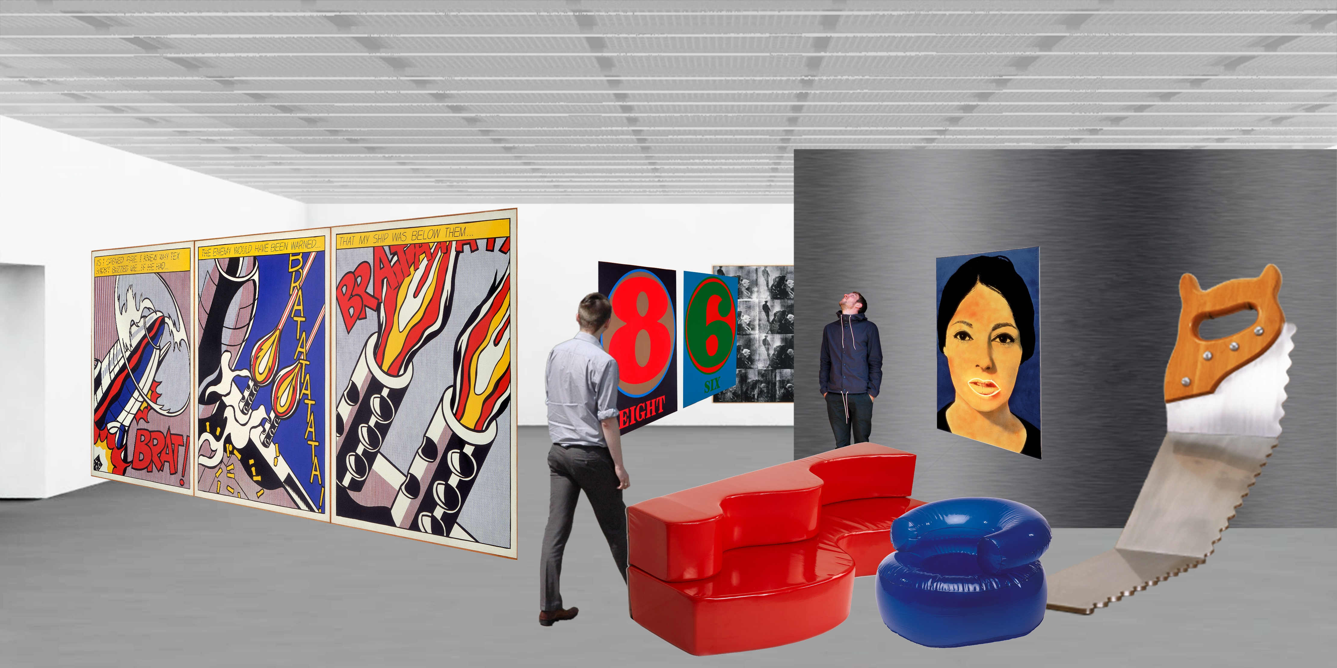 <p>Concept collage inrichting, ontwerp oma. Copyright oma</p>