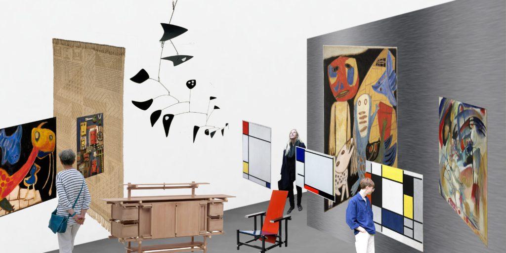 Concept collage inrichting Copyright OMA Tentoonstellen de Architect maartmagazine 2018