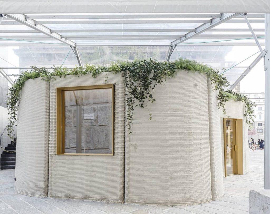 Paviljoen 3DHousing05 door Massimiliano Locatelli op de Salone del Mobile Milaan
