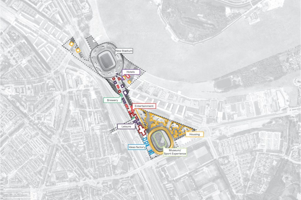 LOLA Landscape Architects ontwerpt landschap Feyenoord City Rotterdam