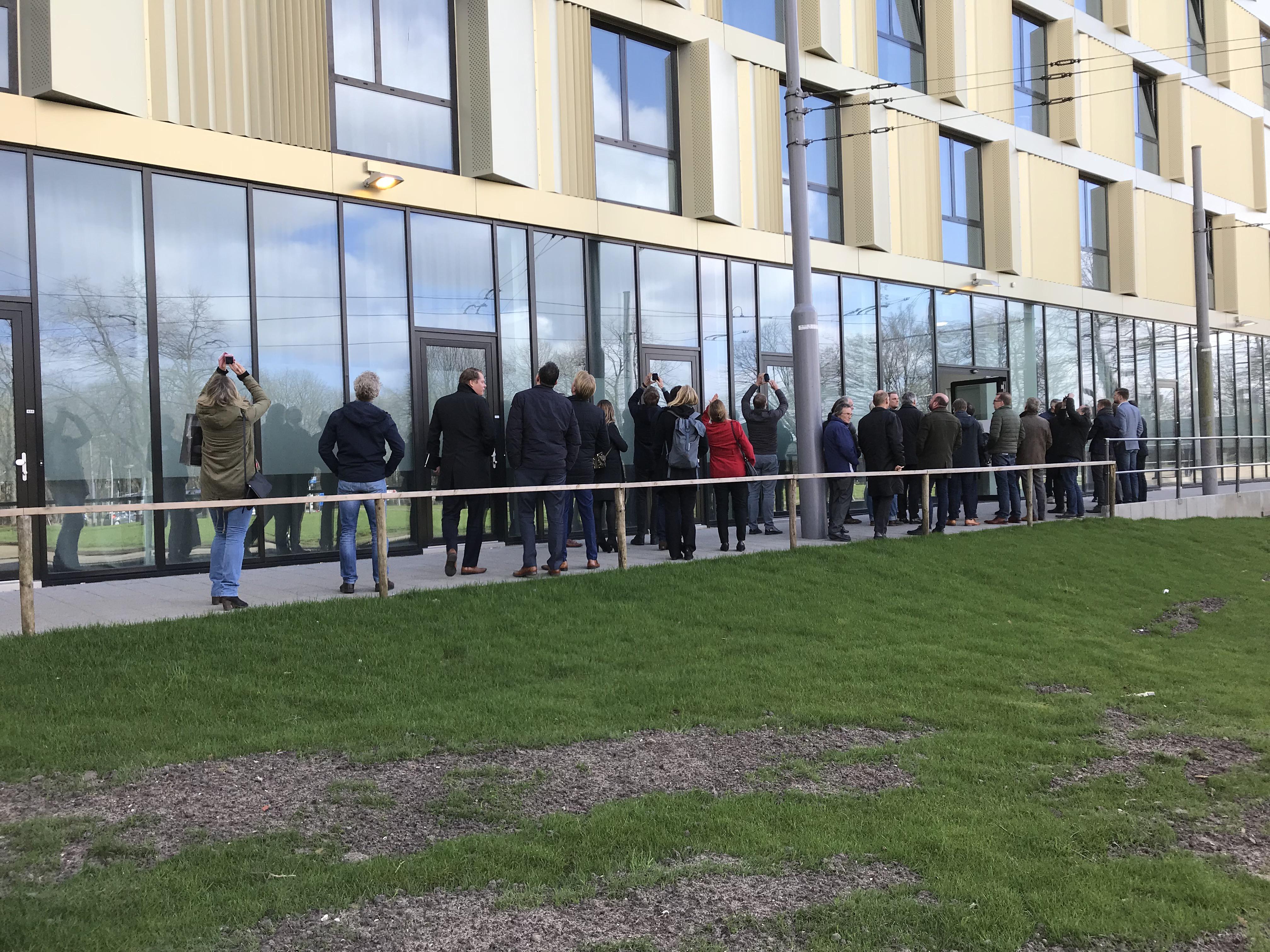 <p>Projectbezoek studentenhuisvesting Woudestein Rotterdam door Mecanoo, beeld Harm Tilman</p>