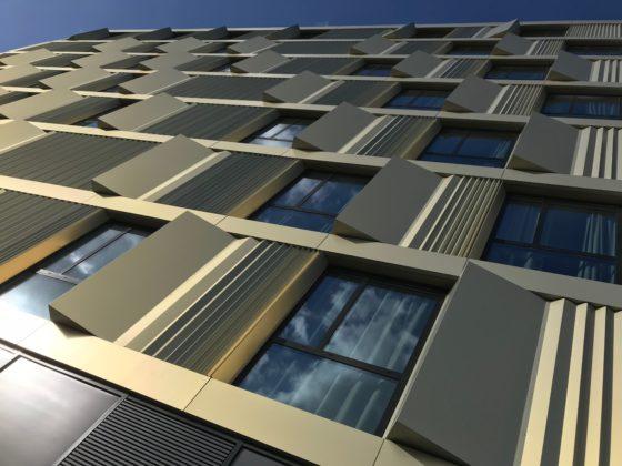 Projectbezoek studentenhuisvesting Woudestein Rotterdam door Mecanoo, beeld Harm Tilman