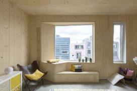Massief houten woningopbouw IJburg – MAATworks
