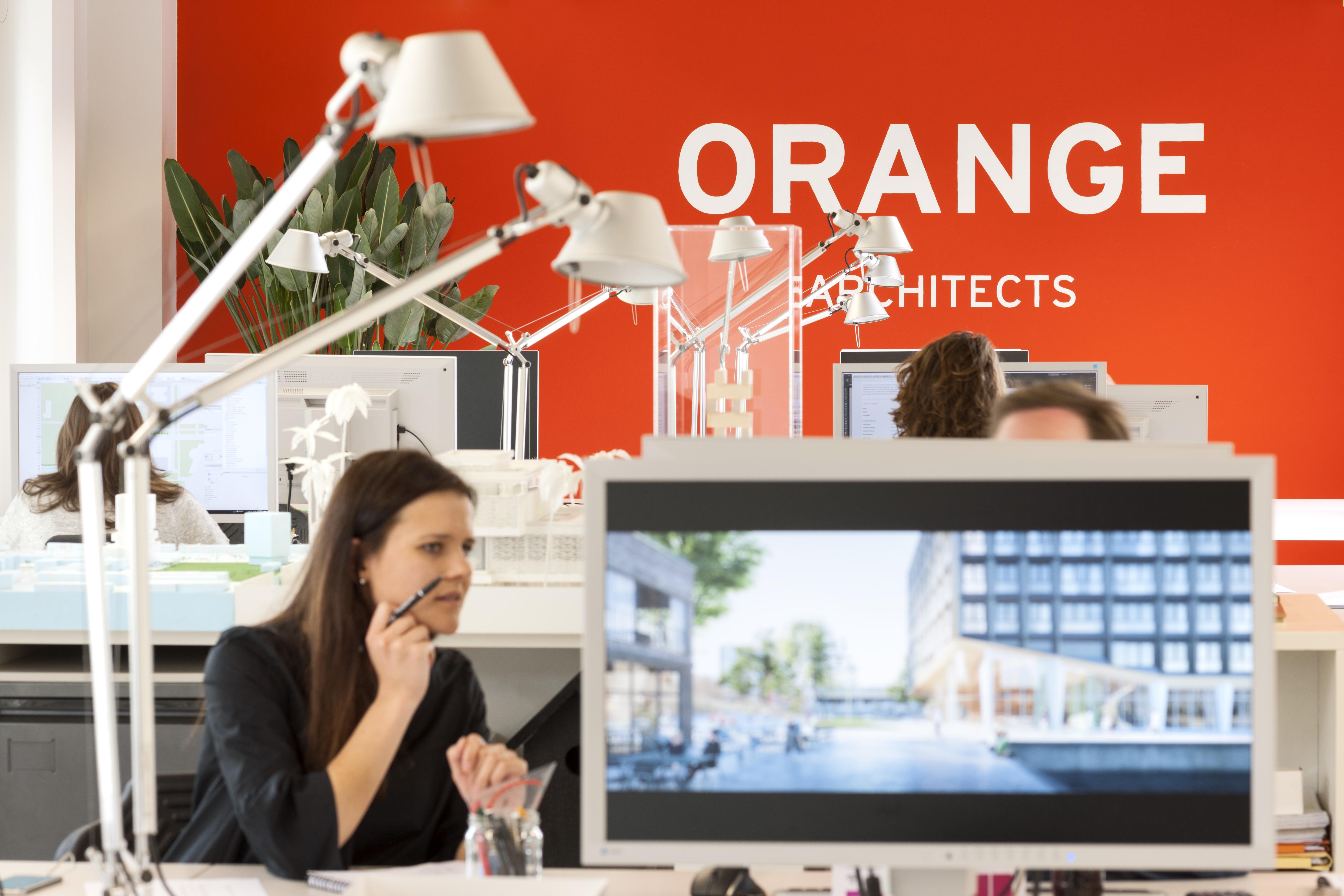<p>Kantoor JSA &#8211; Orange. Beeld: Teo Krijgsman</p>