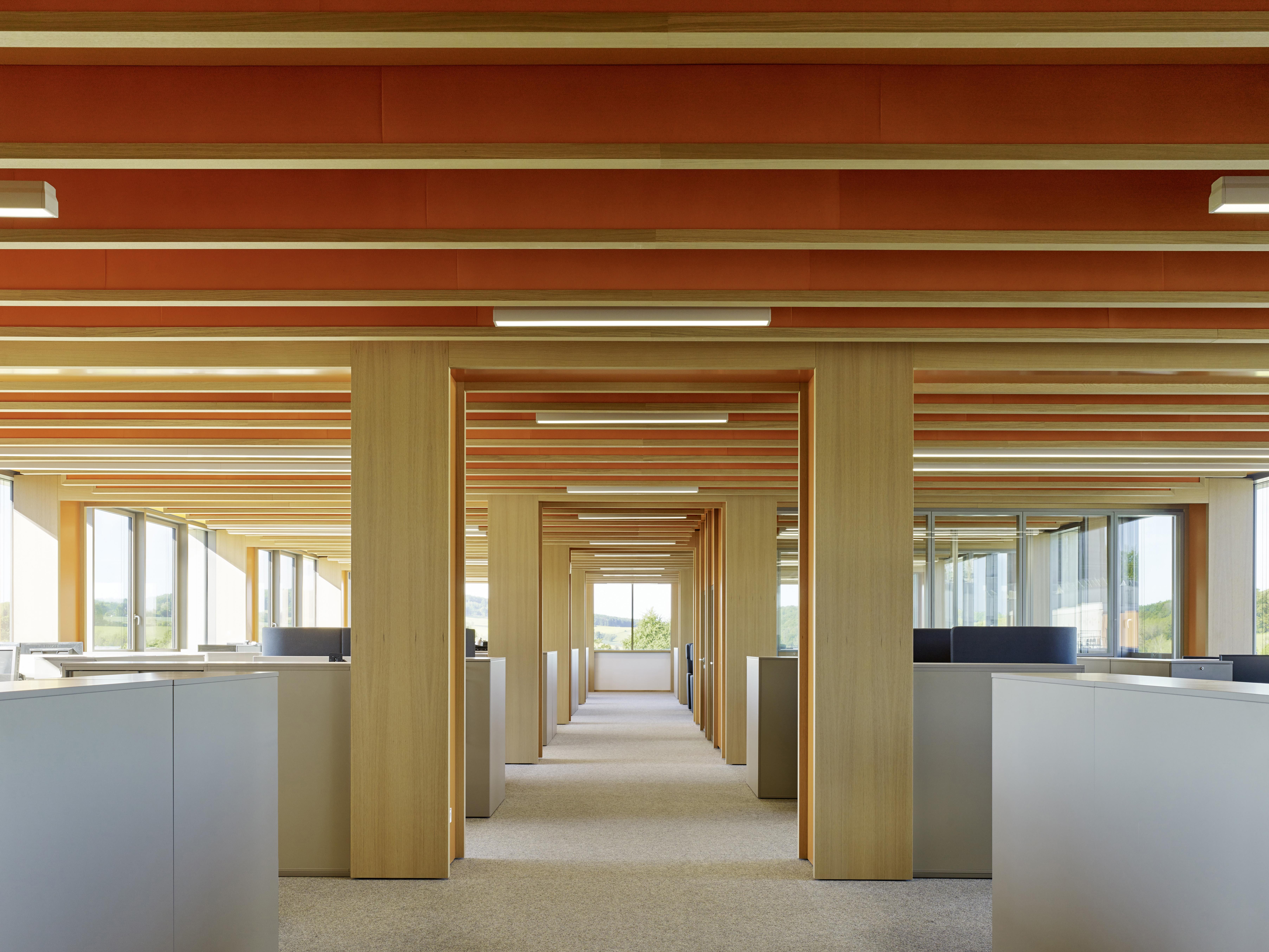 <p>Rode kantoorverdieping. Beeld Constantin Meyer </p>