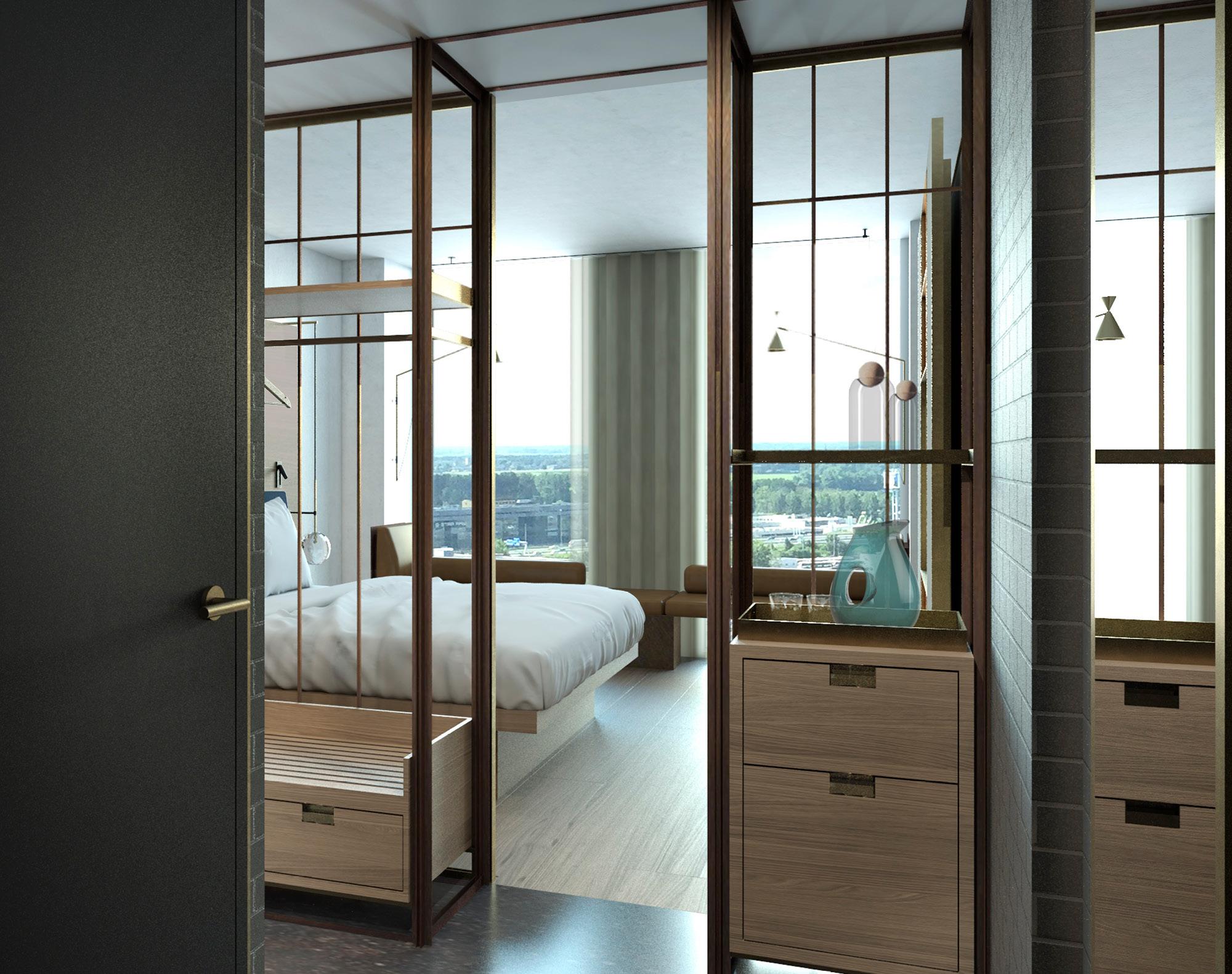 <p>De hotelkamers, ontworpen door Conran and Partners, hebben een indrukwekkend uitzicht. </p>