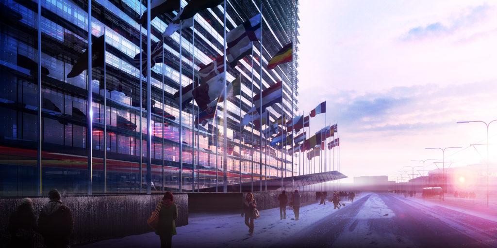 European Patent Office Rijswijk, beeld Ateliers Jean Nouvel - Dam & Partners Architecten - TBI Consortium New Main