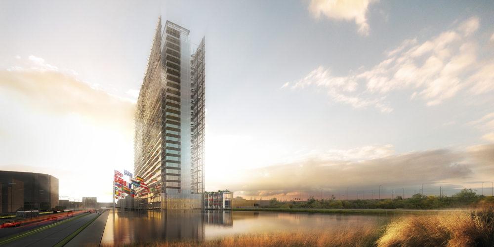 European Patent Office Rijswijk door Ateliers Jean Nouvel en Dam & Partners Architecten