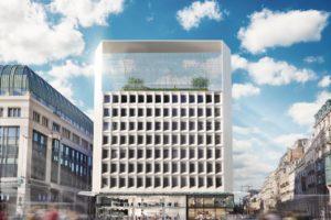 Monumentale fotovoltaïsche structuur voor Brussels kantoorgebouw