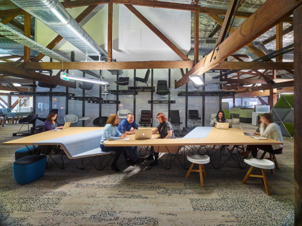 Sociaal interieur op de werkplek