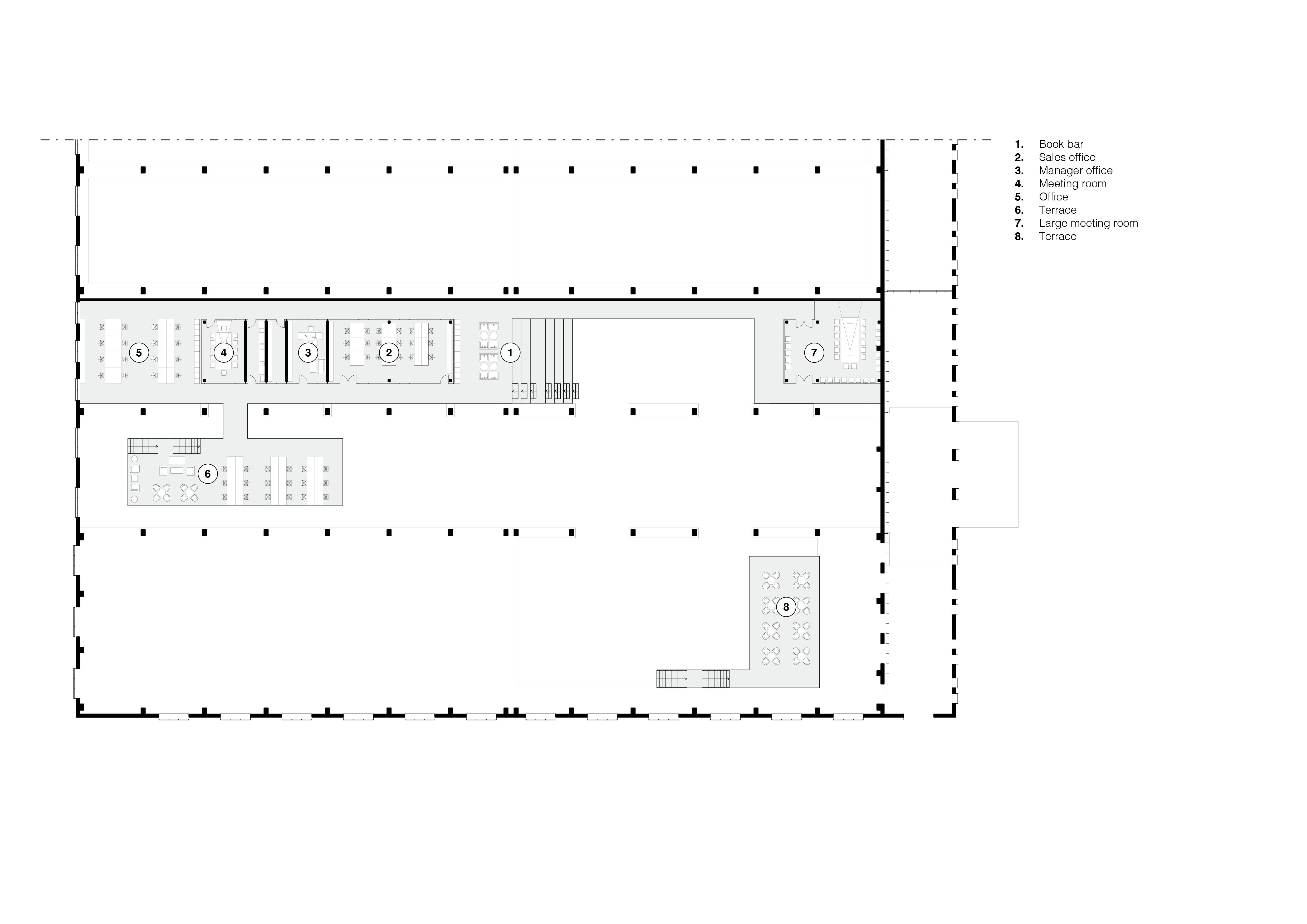 <p>Plattegrond eerste verdieping – Re-veil, Changzhi – Superimpose</p>