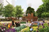 West 8 winnaar London South Bank Bernie Spain Gardens ontwerpwedstrijd