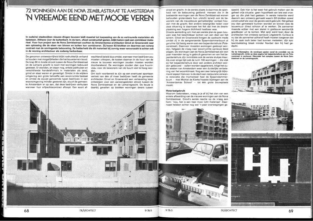 72 woningen aan de Nova Zemblastraat Amsterdam door Girod en Groeneveld, door Cees Zwinkels