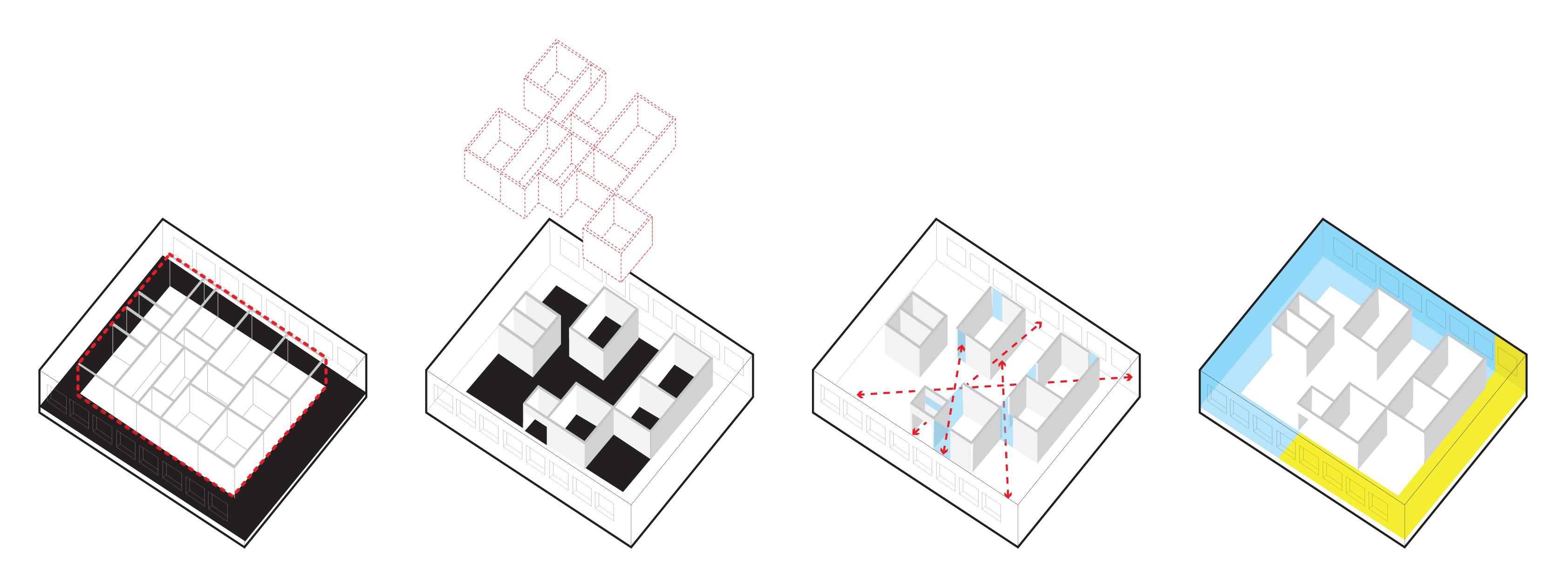 <p>Diagrams – Consulaat Indonesië, Den Haag – Parthesius, Krill o.r.c.a. + SHAU</p>