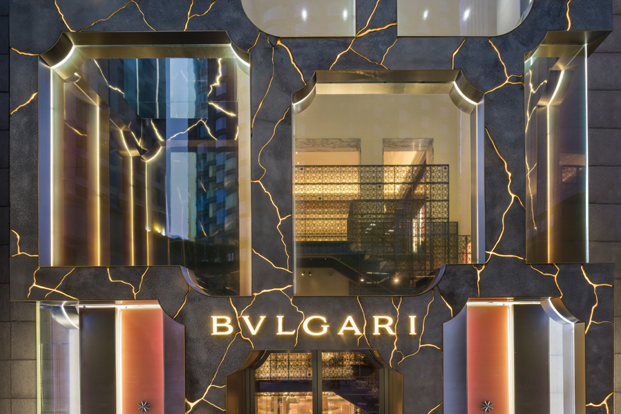 <p>Flagshipstore Bulgari in Kuala Lumpur door MVRDV, foto Daria Scagliola, bewerking Stijn Brakkee </p>