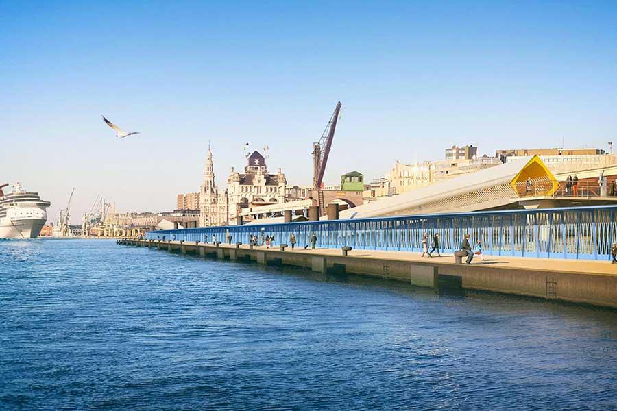 Ney & Partners ontwerpt cruiseterminal Scheldekaaien, Antwerpen