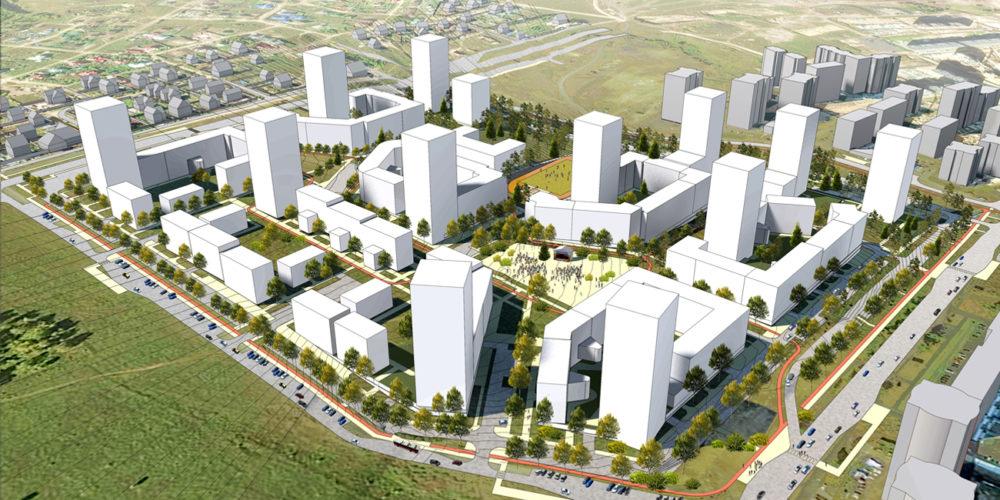 Woningbouw Krasnojarsk, Rusland door SVP architectuur en stedenbouw