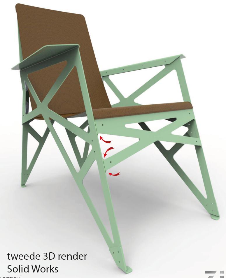 <p>3d render voorzijde ARDAN Fauteuil by Creatoren Designs</p>