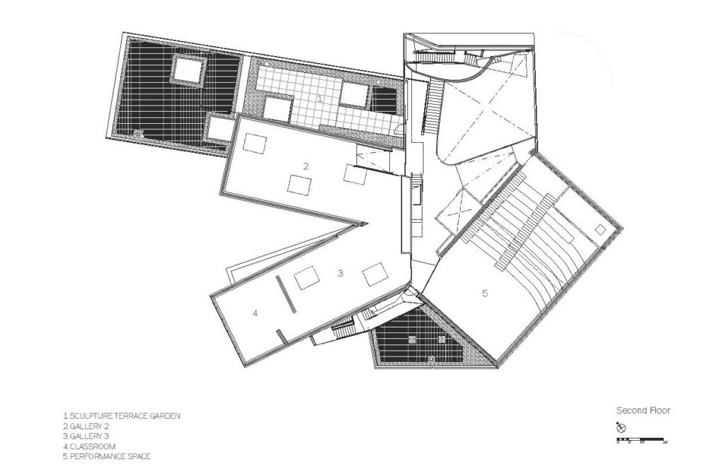 Courtesy of Steven Holl Architects - Second floor