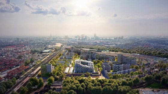 Masterplan Cartesiusdriehoek Utrecht, beeld Mecanoo / Studio Prins