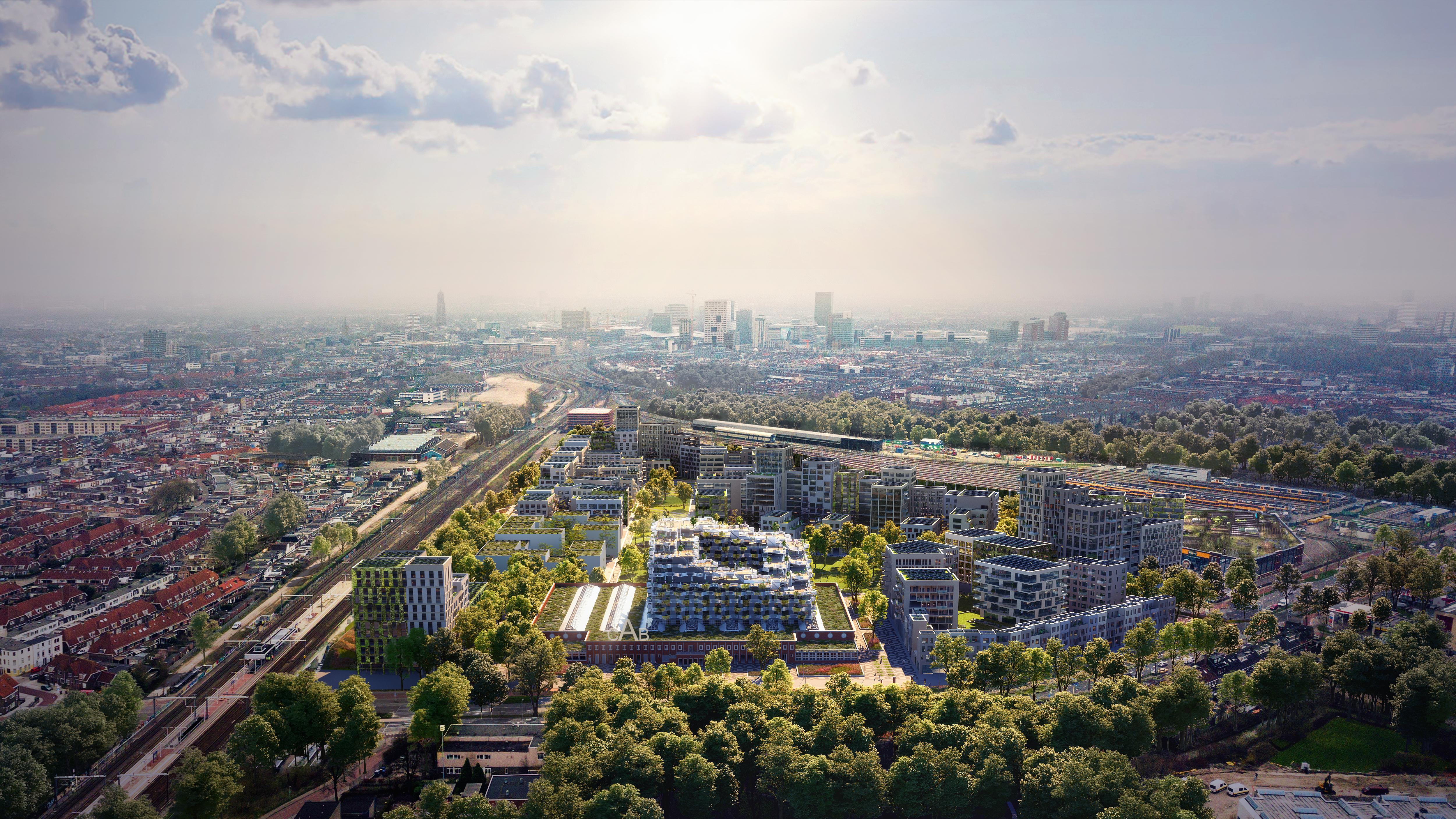 <p>Masterplan Cartesiusdriehoek Utrecht, beeld Mecanoo / Studio Prins</p>