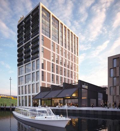 Het Inntel Hotel Oostenburgereiland naar een ontwerp van Ulrich Architectuur