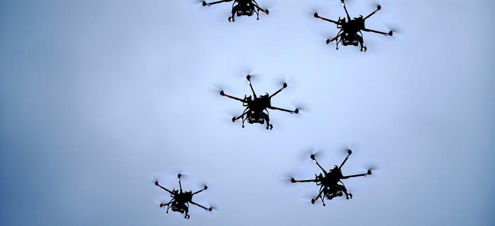 Een zwerm 'killer drones'