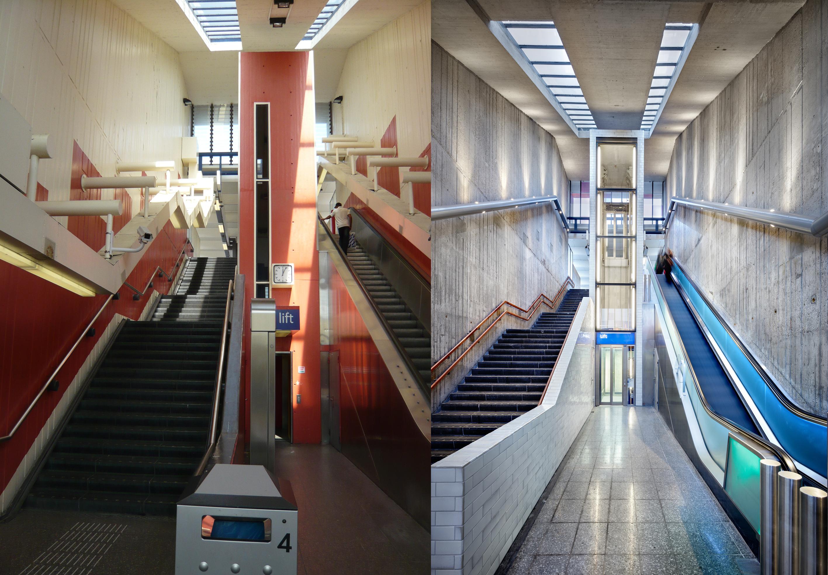<p>Oude situatie | Nieuwe situatie (Station Holendrecht.) fotograaf nieuwe situatie: Digidaan</p>