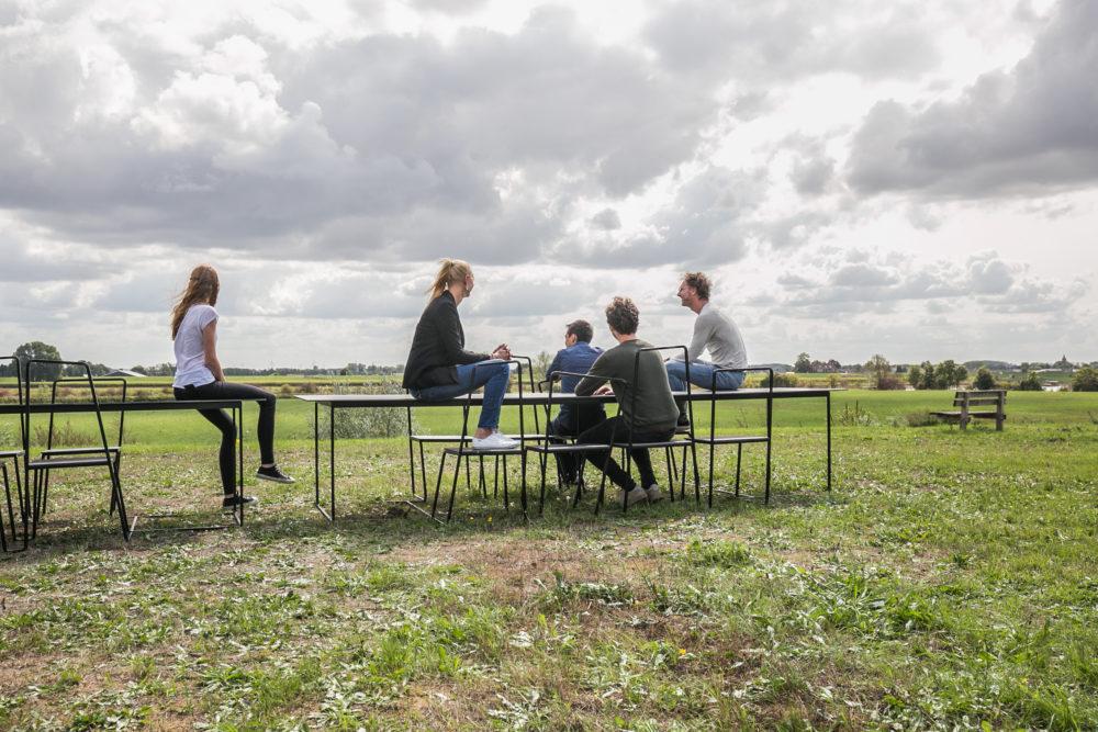 Arc skyline picknicktafel u studio kees marcelis de architect