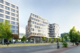 Smart building Edge Grand Central, Berlijn wordt gebouwd door BAM