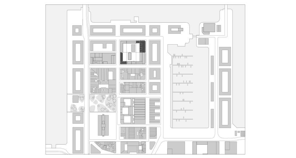 Cadix Antwerpen - Happel Cornelisse Verhoeven en Stephen Taylor Architects. Situatie