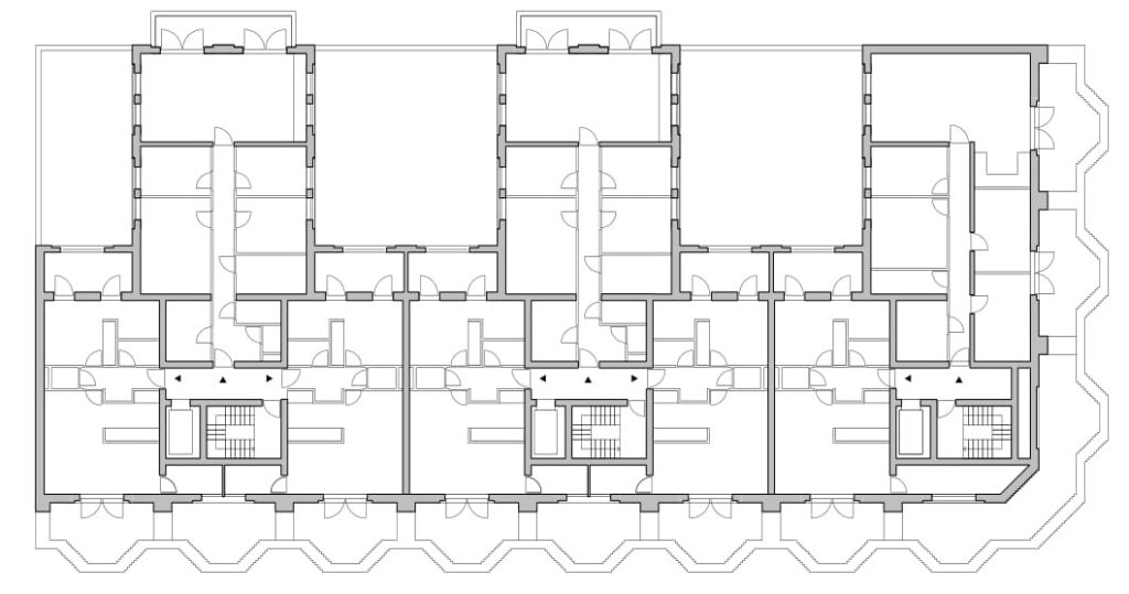 Cadix Antwerpen - Happel Cornelisse Verhoeven en Stephen Taylor Architects. Verdieping 4