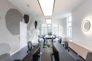 ARC18: Interior Design and Custom Wall Carpet Office space Bridgevest – Studio Tomorrow & Bureau Groenland